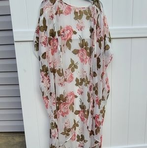 Band of Gypsies Sweaters - Band of Gypsies Floral Kimono Size Large